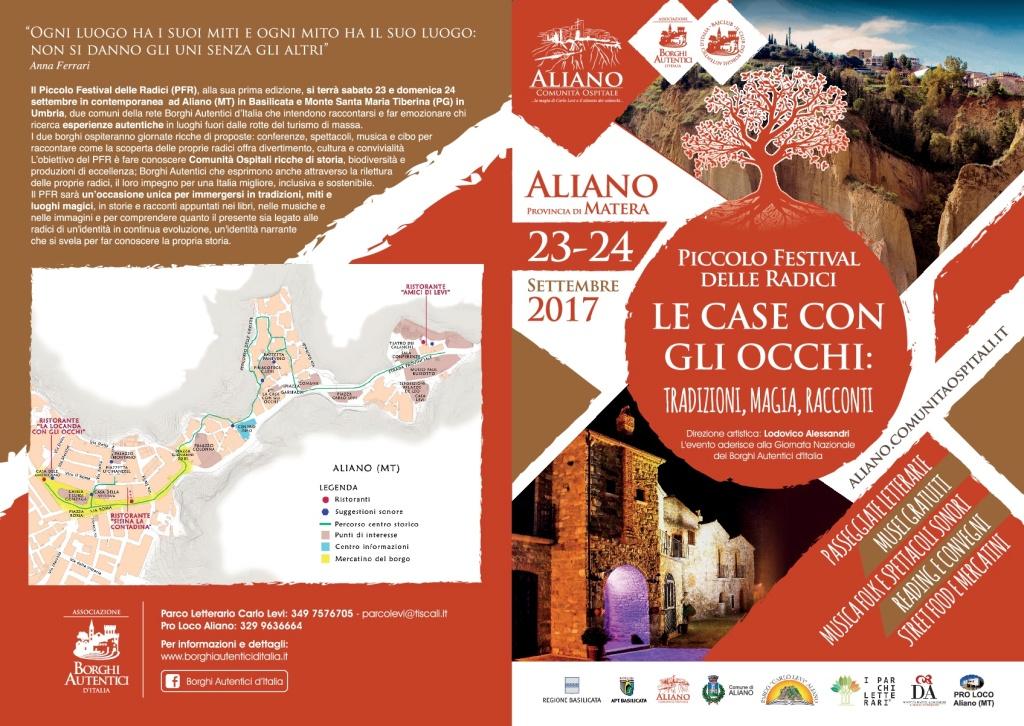 Piccolo Festival delle Radici 2017 Aliano eventi provincia di matera